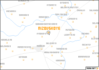 map of Nizovskoye