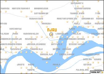Njau Gambia The map nonanet