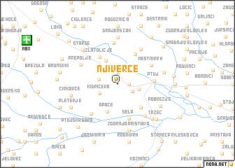 map of Njiverce