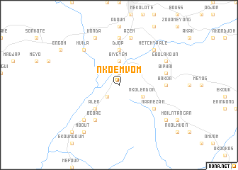 map of Nkoemvom