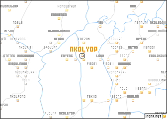 map of Nkolyop
