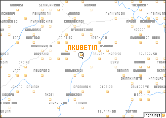 map of Nkubetin