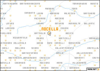 map of Nocella