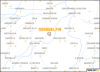 map of Nomadelfia