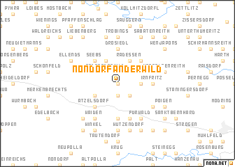 map of Nondorf an der Wild