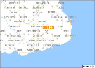 map of Noneca