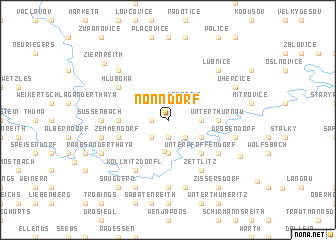 map of Nonndorf
