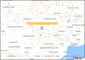 map of Nookhāb Manqi Khān