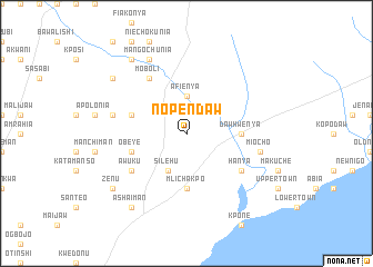 map of Nopendaw