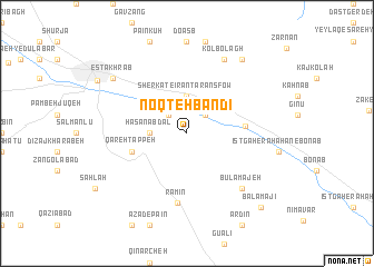 map of Noqţeh Bandī