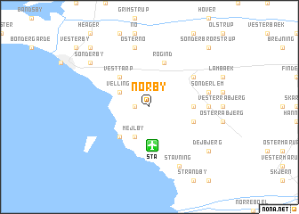 map of Nørby