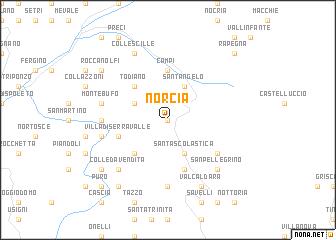 Norcia Italy Map Norcia (Italy) map   nona.net Norcia Italy Map
