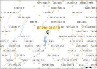 map of Nordhalben