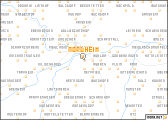 map of Nordheim