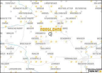 map of Nordlohne