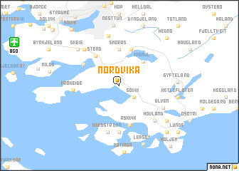 map of Nordvika