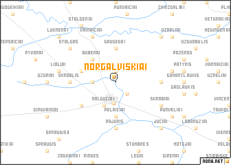 map of Norgalviškiai