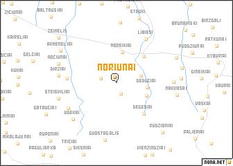 map of Noriūnai