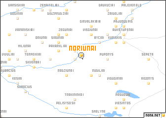 map of Noriūnai