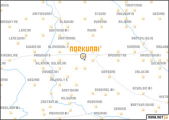 map of Norkūnai
