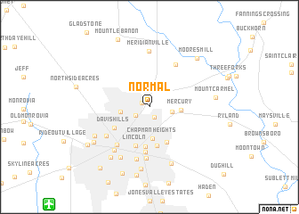 map of Normal