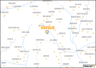 map of Norovo