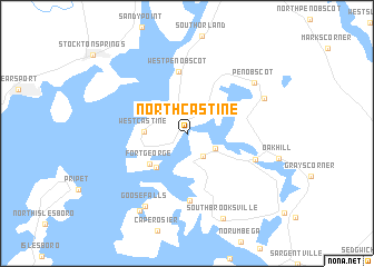 map of North Castine