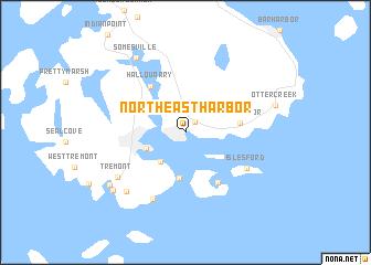 Northeast Harbor Maine Map.Northeast Harbor United States Usa Map Nona Net