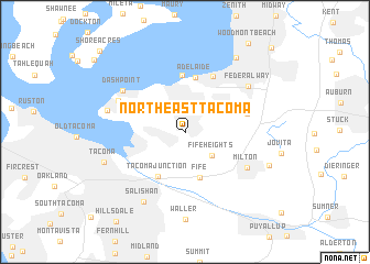 map of Northeast Tacoma