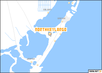 map of North Key Largo