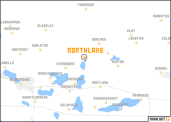 map of North Lake