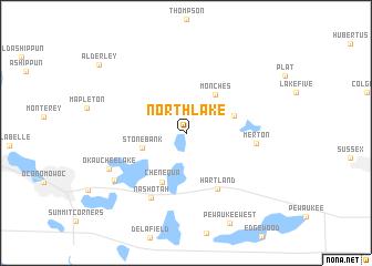 map of North Lake