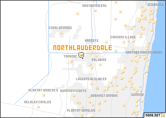 map of North Lauderdale
