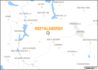 North Lebanon United States Usa Map Nona Net