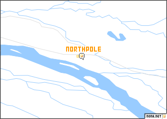 North Pole (United States - USA) map - nona.net