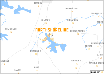 map of North Shoreline