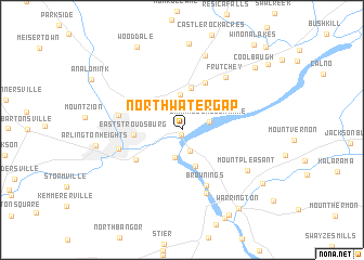 map of North Water Gap