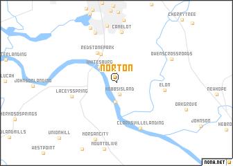 map of Norton