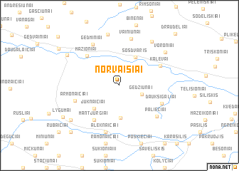 map of Norvaišiai
