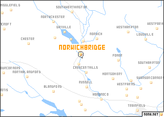 map of Norwich Bridge