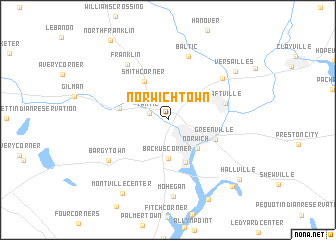 map of Norwichtown
