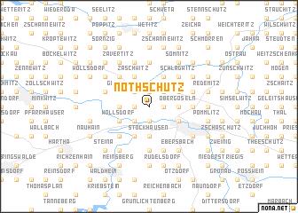 map of Nöthschütz