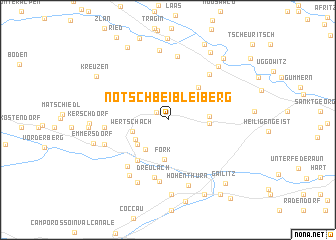 map of Nötsch bei Bleiberg