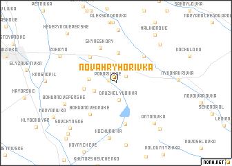map of Nova Hryhorivka