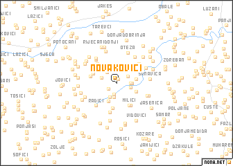 map of Novakovići