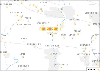 map of Novak Park