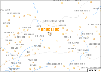 map of Nova Lipa