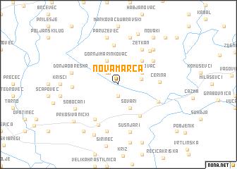 map of Nova Marča