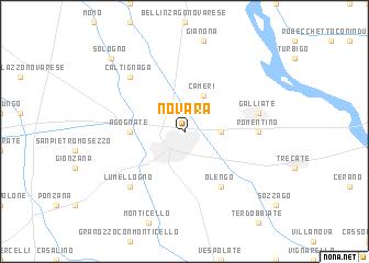 Novara Italy Map.Novara Italy Map Nona Net