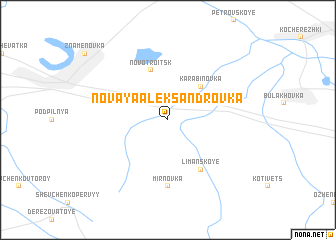 map of Novaya Aleksandrovka